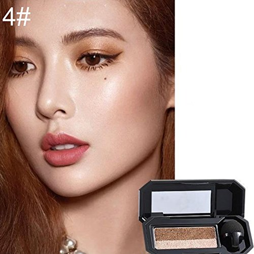 Livecity Perfect Dual Color Eyeshadow Makeup Palette Glitter Eye Shadow Shade Cosmetic (4#)