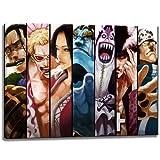Sieben Samurai, One Piece Motiv auf Leinwand im Format: 120x80 cm. Hochwertiger Kunstdruck als Wandbild. Billiger als ein Ölbild! ACHTUNG KEIN Poster oder Plakat!
