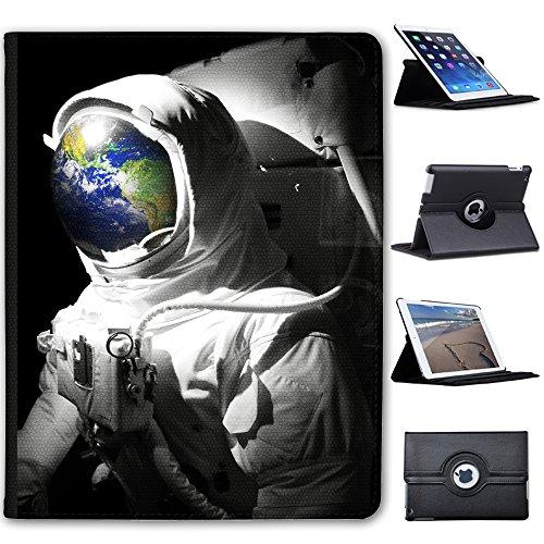 Astronautenanzug & Spiegelbild der Erde Case Cover / Folio aus Kunstleder für das Apple iPad 2, 3 & 4