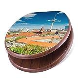 banjado Design Toilettensitz mit Absenkautomatik, WC-Sitz Holz, Klodeckel mit Metall Scharnieren, Toilettendeckel mit Motiv Berlin Mitte