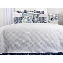 Tiendas Mi Casa - Colcha RUBI blanca, disponible en varios tamaños (Cama 135-140 cm.)