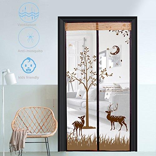 Fliegengitter Tür Insektenschutz Fliegengitter Magnetvorhang für Balkontür Schiebetür Terrassentür 90x210,Braun