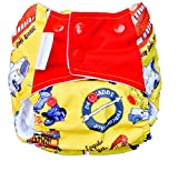 #5: Superbottoms Cloth Diaper - Pocket Diaper with Double-Leak Guards and Soaker (Insert) (Horn Ok Please)