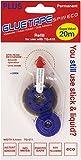 Plus Japan TG-611 - Pegamento en cinta recambiable permanente, transparente y azul