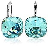 Ohrringe mit Kristallen von Swarovski® Silber Blau Türkis NOBEL SCHMUCK