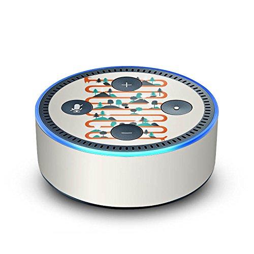 DeinDesign Amazon Echo Dot 2.Generation Folie Skin Sticker aus Vinyl-Folie Fox Fuchs Forest -