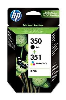 HP 350-351 - Pack de ahorro de 2 cartuchos de tinta Original HP 350 Negro , HP 351 Tricolor para HP OfficeJet y HP PhotoSmart (B001V63ID8) | Amazon Products
