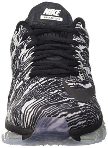 Nike Herren Air Max 2016 Print Trainingsschuhe, Schwarz Bianco (White/Black-Black)
