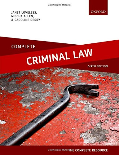 Complete Criminal Law: Text, Cases, and Materials por Janet Loveless