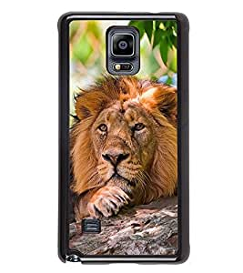Fuson Premium 2D Back Case Cover Lion on rocks With Multi Background Degined For Samsung Galaxy Note 4 N910::Samsung Galaxy Note 4 Duos N9100