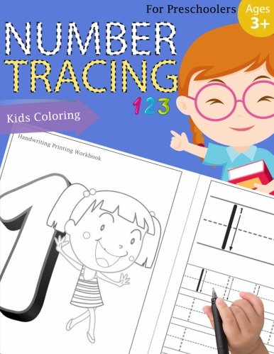 Number Tracing Book for Preschoolers: Number tracing books for kids ages 3-5,Number tracing workbook,Number Writing Practice Book,Number Tracing Book. Fun with Coloring: Volume 2