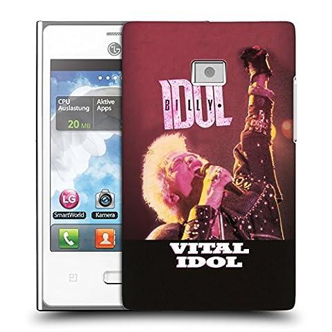 Officiel Billy Idol Vital Idol Disques Étui Coque D'Arrière Rigide Pour LG Optimus L3 E400