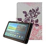 KATUMO Universal Tablet 10 Zoll Hülle, Schutzhülle für Samsung Galaxy Tab,Inklusive XIDO X111,Huawei MediaPad, Artizlee ATL-21plus 10 Zoll,Tablet PC ATL-21L,XIDO Z120/3G Tablet Pc ,Alldaymall 10 Zoll ,Lenovo Tab 2 A10-70 / Lenovo TAB3 10 Plus / YunTab 3G Tablet 10.1 inch / XIDO X110 10 inch, Schwarze Rose