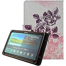"Carcasa Tablet 10.1"" Cuero, Funda Protector para Chuwi Hi10- 10.1""/Artizlee ATL-21 Plus Tablet 10.1 pulgadas/YUNTAB K107 de 10.1""/WeVool NEMESIS 10.1""/iRULU eXpro 1Plus 10.1 pulgadas/Alldaymall Tablet de 10.1""/Chuwi HiBook Pro 10.1""/Teclast X10 Plus 10.1""/BEISTA Tablet 10.1""/Simbans Presto10.1""/ Dragon Touch X10 10.1"" Funda con Tapa Cubierta Carcasa de Piel[Universal Funda 10 pulgadas]-Rosa"