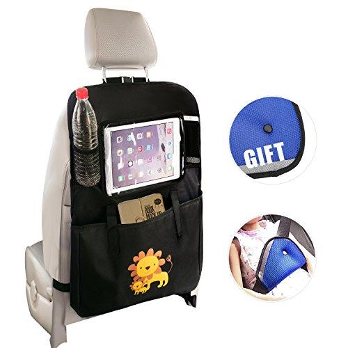 Rückenlehnenschutz,Meepo Autositze Organizer Auto-Rücksitz-Organizer- Touchscreen-Tasche für Ipad - Auto Sitz Rückenschutz, Kick Mat, Auto-Organizer für Baby-Spaziergänger & Kid Read-Fach