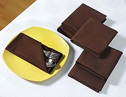 Schokoladen-Servietten Set von 6; Baumwolle Tischwäsche; Frühlings-Dekorationen für