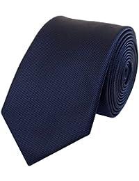 Krawatte schmal dunkelblau gestreift von Fabio Farini