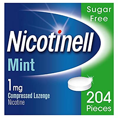 Nicotinell Nicotine Lozenges, Stop Smoking Aid, 1 mg, Sugar Free, Mint, 204 Pieces by GSK