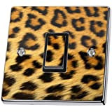 Leopard Print Pattern Light Switch Sticker vinyl cover skin