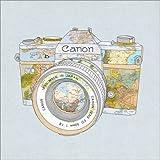 Posterlounge Forex-Platte 100 x 100 cm: Canon Weltkarte von BIANCA Green
