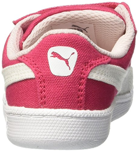 Puma - Smash Fun Cv V, Sneaker Unisex – Bambini Rouge (Rose Red/White)