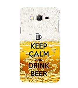 EPICCASE Keep beer and calm Mobile Back Case Cover For Samsung Galaxy E5 (Designer Case)