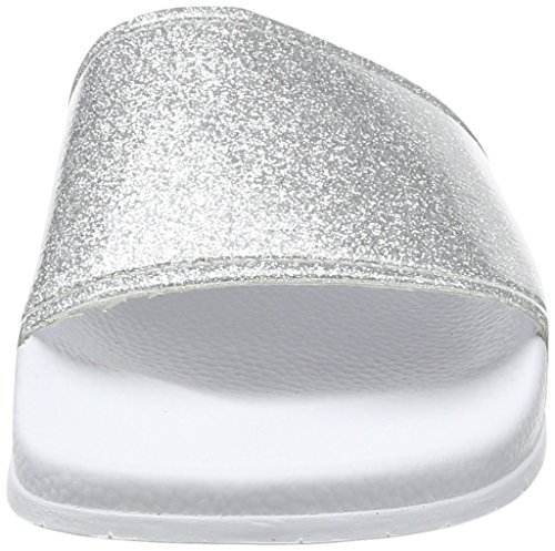 Slydes Damen Champagne F Sandalen White (Silver)