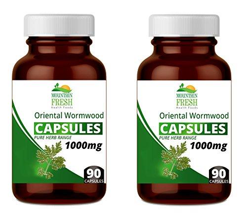 Mountain Fresh Oriental Wormwood Artemisia Annua Pure Herb Capsules, 1000 mg, 180-Count