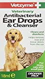 Vetzyme Antibacterial Ear Drops and Cleanser, 18 ml