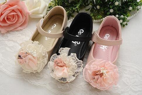 Ohmais Enfants Filles Chaussure cérémonie Ballerines à bride Fête Demoiselle d'honneur Mariage Escarpin plat Babies pink velcro