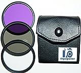 equipster UV-Filter + CPL Polfilter + FLD FilterSet in praktischer Transporttasche für das Kamera Objektiv Nikon AF-S Nikkor 28-300mm f3.5-5-6 G ED VR