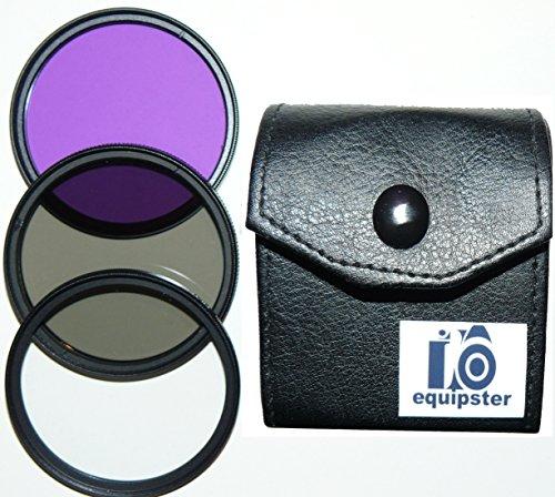 equipster UV-Filter + CPL Polfilter + FLD FilterSet in praktischer Transporttasche für das Kamera Objektiv Sigma 10-20mm f4.0-5.6 EX DC HSM [Nikon]