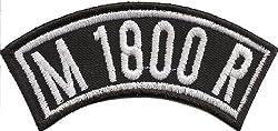 Biker Kutten Front Tab, M 1800 R, Motorrad Rocker Patch Aufnäher Abzeichen