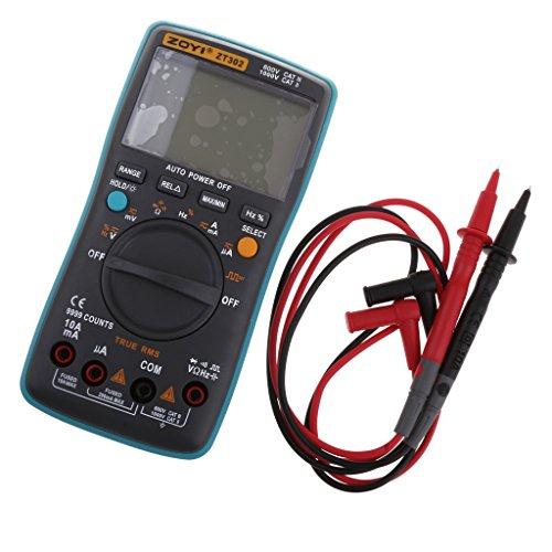 Baoblaze ZT302 Digital LCD Multimeter Voltmeter Ammeter AC/DC/Volt Tester, Handheld Strommessgerät - Power-amp-rack