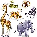 DDI Jungle Animal Props Party Accessory (1 Count) (6/Pkg)