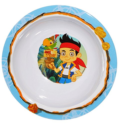 """Müslischale / Suppenteller - """" Käpt`n Jake & die Nimmerland Piraten """"- Melamin - tiefer Frühstücksteller / Eßteller - Kindergeschirr - für Jungen - Eßlerngeschirr - Suppe Plastik - Kinderteller / Plastikteller - Speiseteller - Pirat"""