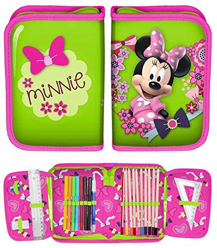 ÄPPCHEN 22 teilig gefüllt FEDERMAPPE Kinder Jungen Mädchen (Minnie Mouse) ()