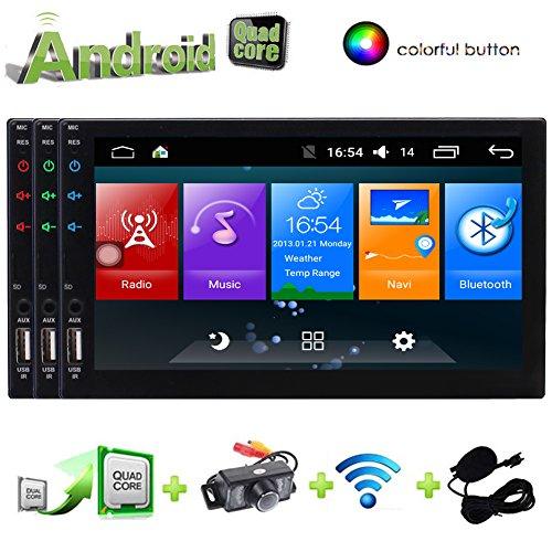Freies Geschenk hintere Kamera 8GB Karte Radio Stereo-1 din Auto 7inch DVD-Spieler GPS-Navigation in Dash Autoradio Bluetooth 800MHZ CPU 256M RAM 128 MB ROM-Steuergerät Abnehmbare - Store Play Android-geschenk-karte