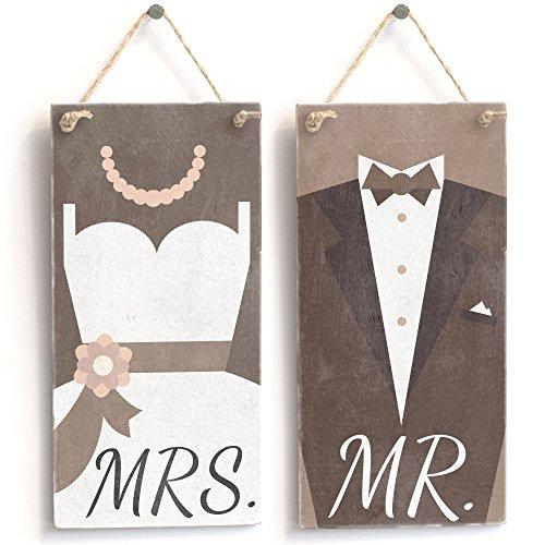 Ein Paar Drumsticks von Mr & Mrs' Brautkleid & Trolley Tuxedo - Handarbeit Shabby Chic...