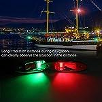 Fydun 12V LED Flush Mount Side Bow Navigation Signal Light 2Pcs 120° Lamp for Marine Boat Yacht Green 61.5lm&Red 19lm 10