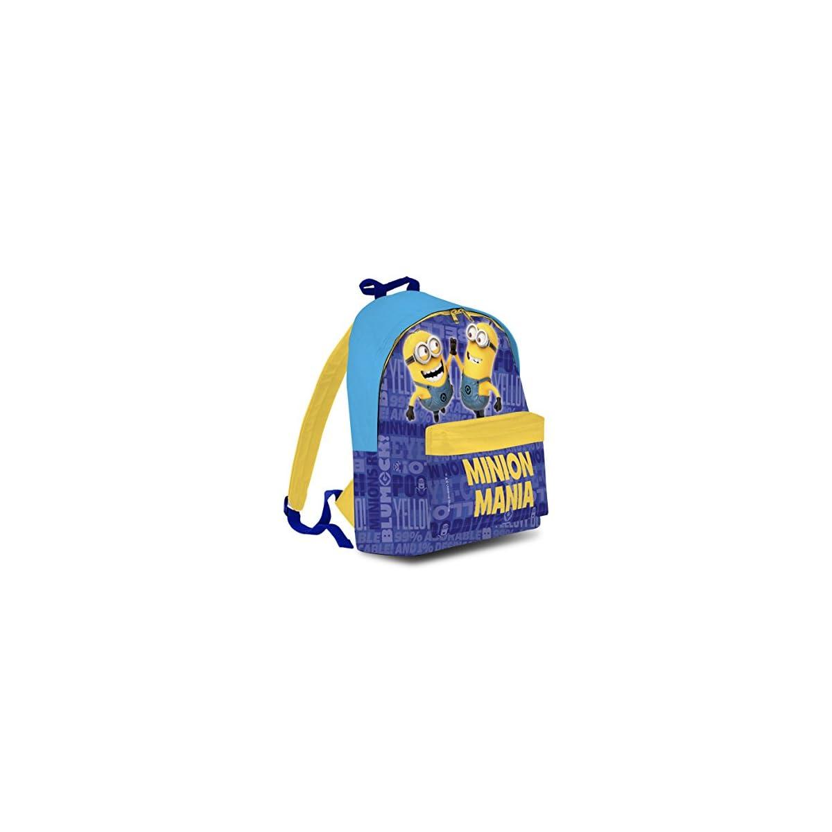 51OyXqUDmVL. SS1200  - BAKAJI Zaino Americano Minions Cattivissimo Me Mochila Infantil 40 Centimeters Azul (BLU)