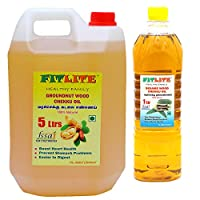FITLITE Combo Pure Groundnut Wood Chekku Oil 5 LTR + Sesame Chekku Oil 1 LTR