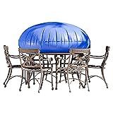 JYW-Covers Gartenmöbel Abdeckung Möbel Staubschutz Für, Aufblasbare Möbel Aus PVC Schutzhülle, Aufblasbarer Airbag Verhindern Sie Stehendes Wasser Blau, 60 * 81 cm