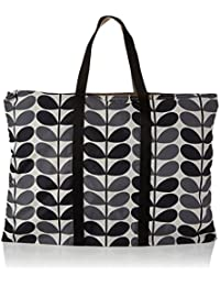 Orla Kiely Women's Foldaway Travel Bag Top-Handle Bag Black (Storm)