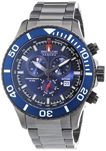 Swiss Military Hanowa 6-5226.30.003 - Reloj de cuarzo para hombre, correa de acero inoxidable chapado color negro