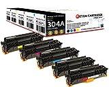 Original Reton Toner, kompatibel, 5er Farbset für HP CM2320FXI (CC530A, CC531A, CC533A, CC532A), HP 304A COLOR LASERJET CM2320N, CM2320NF, CM2320FXI, CP2025N, CP2025DN, CP2025X, CM2320MFP