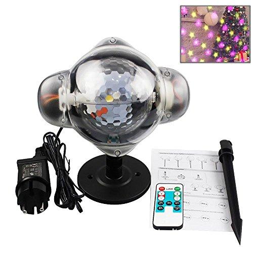 (Leegoal Star Projector, Star LED Projektor Wasserdicht Landschaft Licht mit Drahtloser Fernbedienung für Halloween Gartenhaus Party Hochzeit Rasen Disco Weihnachtsschmuck)