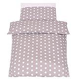 Baby-Bettwäsche, Motiv 'Pois Chic', Bio-Baumwolle, Bettbezug und Kissenbezug, 2-teilig