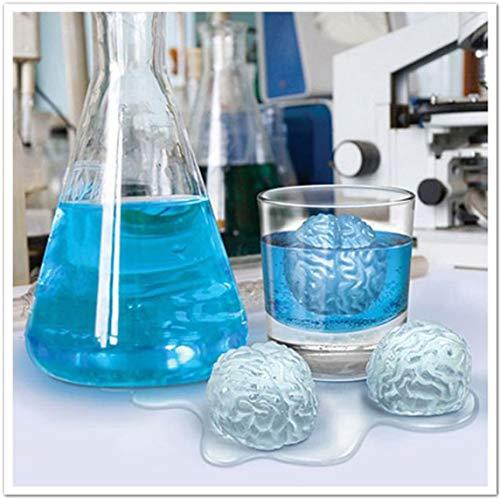 Footprintse Halloween;Halloween blu ray;Halloween 2 Gehirn Eiswürfel Halloween Eisherstellung Werkzeuge Lustige Silikonform Kuchen Dekor-Farbe: zufällig