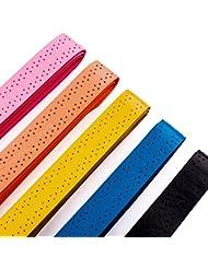 Senston ancha perforado absorbente raqueta de tenis Overgrip - 5/10/15 Paquete Anti Slip Sobregrip Grip raqueta de bádminton raqueta de squash Sobregrip